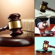 Conceptual collage of litigation — Stock Photo #32957607