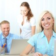 Office workers in workplace — Stock Photo #33019671
