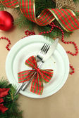 Krásné vánoční nastavení, zblízka — Stock fotografie