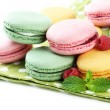 Gentle macaroons close-up — Stock Photo