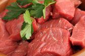 Ruwe rundvlees close-up — Stockfoto