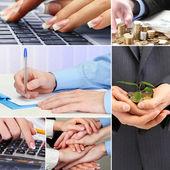 Collage di affari — Foto Stock