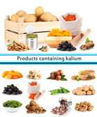 Products containing kalium — Stock Photo