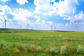 Windmills field — Stock Photo