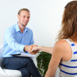 Woman with problem on reception for psychologist — Stock Photo #33187987