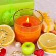 Romantic lighted candles close up — Stock Photo #33189171