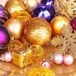 Christmas decorations close up — Foto Stock