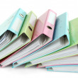 Stock Photo: Colorful folders, isolated on white