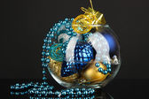 Christmas decorations on black background — Stockfoto