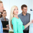 Business team working in office near whiteboard — Stock Photo #33209331