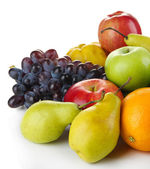Composition of different fruits isolated on white — Stock Photo