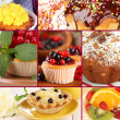 Collage of different tasty cupcakes — Stock Photo