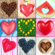 Collage of heart-shaped things — Stock Photo #33314241