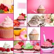 Collage of different tasty cupcakes — Stock Photo #33314257