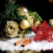 Beautiful Christmas composition on table on bright background — Stock Photo #33315921
