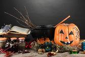 Scary halloween laboratory — Foto de Stock