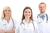 Tıbbi çalışanlar üzerinde beyaz izole — Stok fotoğraf