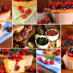 Berry cupcakes close up — Stock Photo