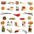 Various spices and herbs isolated on white — Stock Photo #33449499