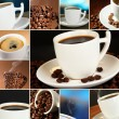 Stock Photo: Collage of delicious coffee