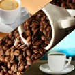 Collage of delicious coffee — Stock Photo