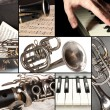 Classical music collage — Stock Photo #33449735