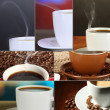 Collage of delicious coffee — Stock Photo #33449745