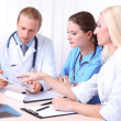 Medical team during meeting in office — Stock Photo #33452333