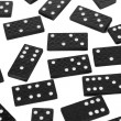 Dominoes on white background — Stock Photo
