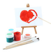 Painting supplies isolated on white — Stock Photo