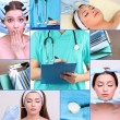 Plastic surgery collage — Stock Photo