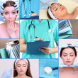 Plastic surgery collage — Stock Photo #33604705