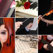 Classical music collage — 图库照片 #33604915