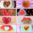 Collage of heart-shaped things — Stock Photo #33607631