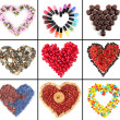 Collage of heart-shaped things — Stock Photo #33607701