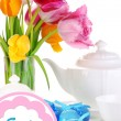 Place setting for Easter close up — Foto de stock #33658615