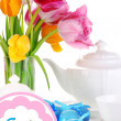 Place setting for Easter close up — Stock fotografie #33658615