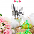 Place setting for Easter close up — Foto de stock #33658625