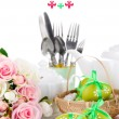 Place setting for Easter close up — Stock fotografie #33658625