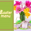 Place setting for Easter close up — Foto de stock #33658639