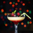 Tasty blackberry cocktail on bright background — Stock Photo