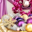 Christmas decorations close up — Lizenzfreies Foto