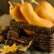 Autumn composition with pumpkin — Stock Photo