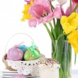 Foto Stock: Place setting for Easter close up