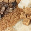 Different types of sugar close-up — Stockfoto #33731433