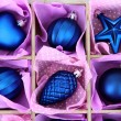 Beautiful packaged Christmas toys, close up — стоковое фото #33732085