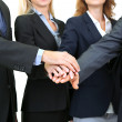 Stock Photo: Business people hands close up