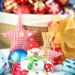 Beautiful Christmas composition with Christmas toys close-up — Lizenzfreies Foto