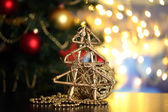 Christmas composition on table on bright background — Stock Photo