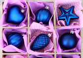 Beautiful packaged Christmas toys, close up — Foto de Stock
